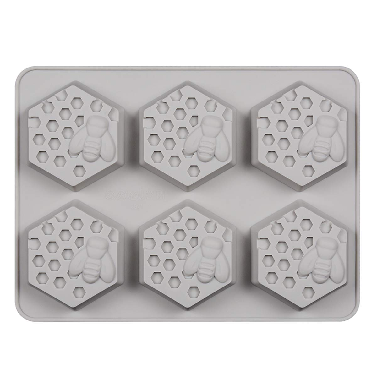 SJ Honeycomb Cake Molds for Kids, 19 Cavity Silicone Honey Comb Bees Soap Mold Cake Baking Moulds Pull-Apart Dessert Cake Pan Mold