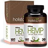 HolistaPet Hemp Capsules for Pets - 150mg, 300mg, and 600mg - 100% Organic Hemp Extract - Supports Pain, Anxiety, and…