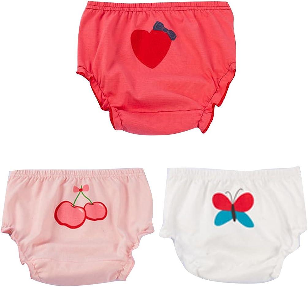 JEELINBORE Ropa Interior para Bebés Niña Braguitas Pantis Volantes Pantalones Bombachos, 3 Piezas | para 1-5 años