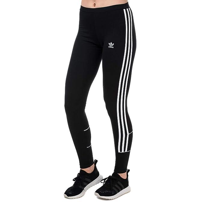 adidas Originals Womens 3 Stripes Leggings in Black: adidas