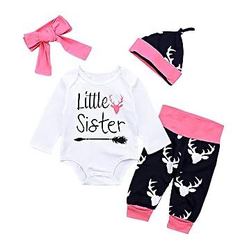 Feixiang Newborn Baby Boys Girls Trajes para niños Sudaderas Carta ...