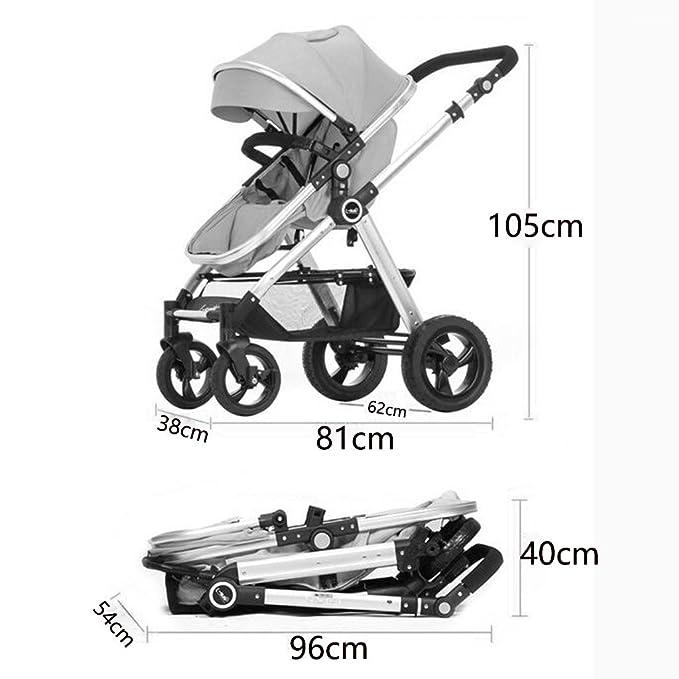 ZXLDP Sillas de paseo Cochecito de bebé plegable /Puede sentarse de dos vías ligeramente Llevar invierno y verano del bebé de doble uso de la carretilla ...