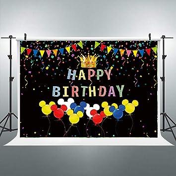 Amazon.com: Pancarta de ratón colorida para celebración de ...