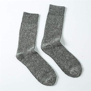 Huyizhi Calcetines de Hombre Calcetines de Invierno de los Hombres Calientes de la Lana sólida Calcetines