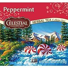 Celestial Seasonings Herbal Tea, Peppermint, 40 Count