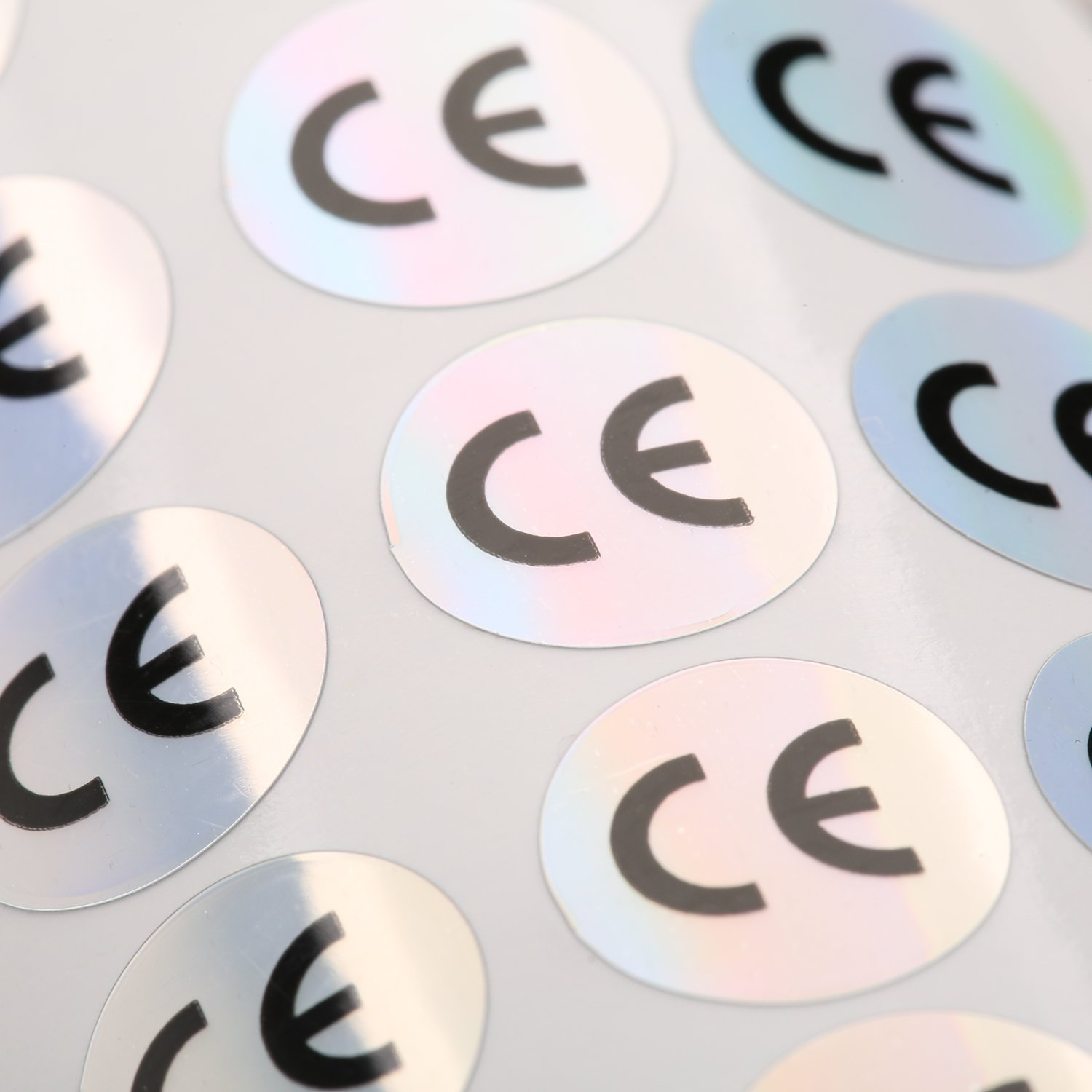 1000pcs hologram CE stickers round shape diameter 1CM/0.4'' adhesive sticker by justlabel