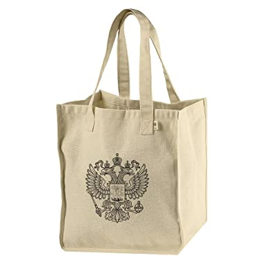 bea6f5c2ca Image Unavailable. Image not available for. Color  Market Tote Bag Hemp Cotton  Canvas Russian Flag Vintage Look ...