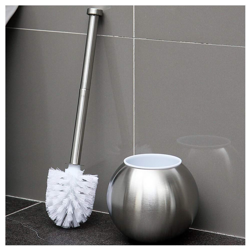 Escobilla de ba/ño y soporte elegante juego de acero inoxidable f/ácil de limpiar