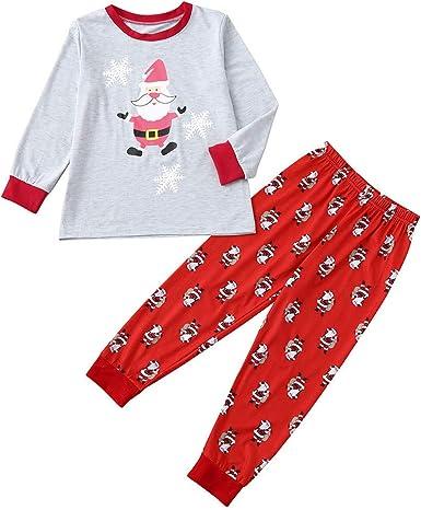 Women Family Mom Christmas Pajamas Indoor Shirt Pants Sets 2Pcs Sleep Nightwear