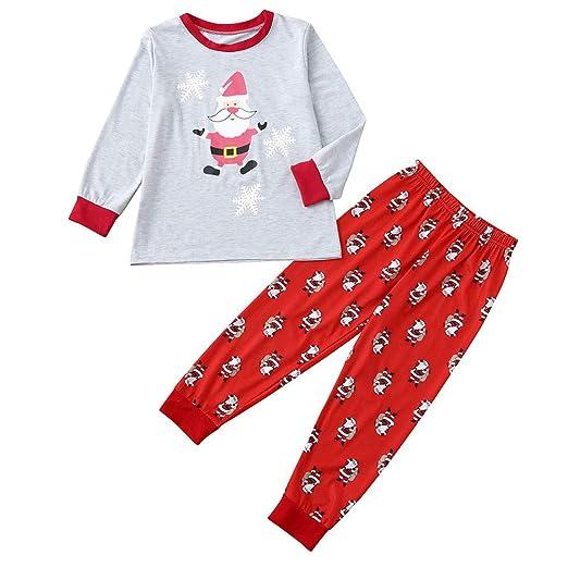 48ce417d7 Hatoys Family Pajamas Sleepwear Christmas Santa Tops Plaid Pants ...