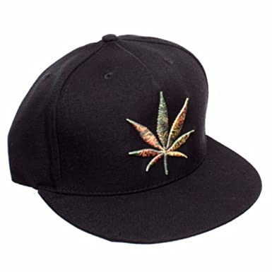 cf753540c7 YMCMB Weed Leaf Snapback Hat at Amazon Men's Clothing store: