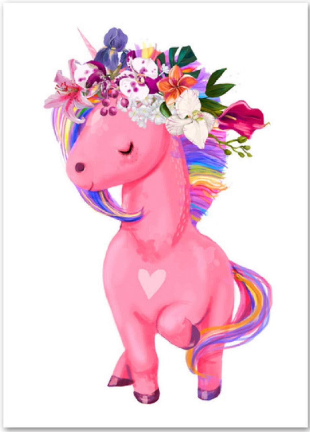 Cartel de pintura de acuarela unicornio unicornio de arte de ...