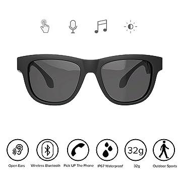 CLCZN Gafas De Conducción Ósea, Deportes Auriculares Polarizados Gafas De Sol Música Estéreo Inalámbrico Bluetooth