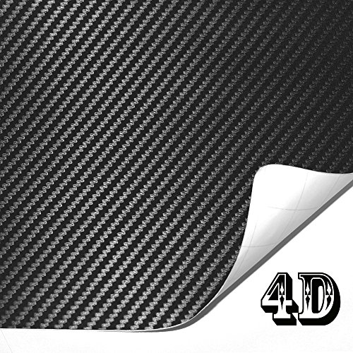 Shiny Roof (Htianc 4D Black Carbon Fiber Vinyl,High Gross Wrap Sticker Roll With Patterns,For Car Bumper,Side Mirror Covers,Spoiler,Mobile Phone)