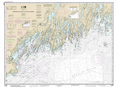 Muscongus Bay Maine (Monhegan Island to Cape Elizabeth - 2014 Maine Brunswick Casco Bay Portland Nautical Map - 80000 AC Custom Reprint ED 3:4 - Chart 1204)