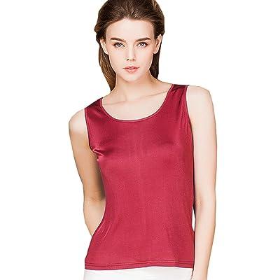 METWAY Women's Shirts Classic Silk Sleeveless Tank Tops at Women's Clothing store
