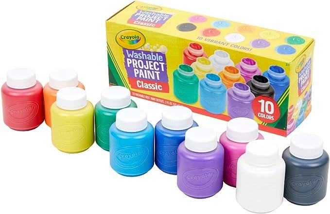 Crayola - 10 botes de pintura lavable (54-1205) , color/modelo surtido: Amazon.es: Juguetes y juegos