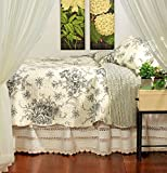 American Hometex French Country Black King Quilt Set