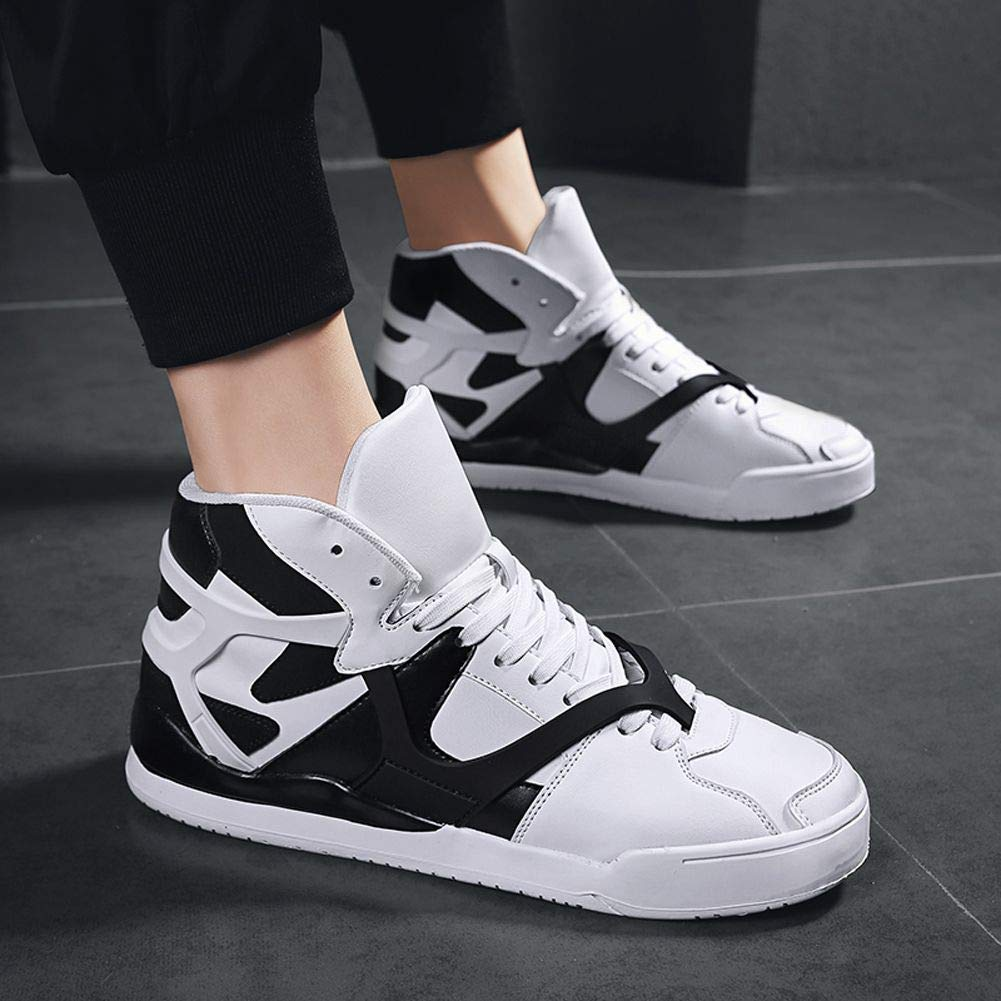 JIYE Mens Womens High Top Fashion Sneakers Korean-Style Casual Sports Shoes Walking Shoes