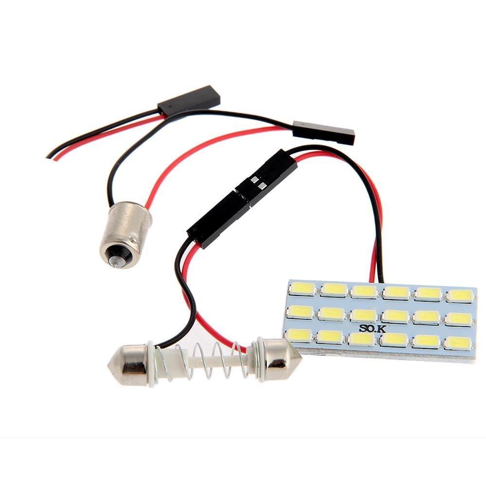 Sonline del coche 18 5630 SMD LED Panel de Luz interior + T10 / BA9S / plafon version 2W Blanca