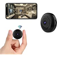 Mini Spy Camera WiFi Wireless Hidden Camera with Audio and Video 1080P Small Portable Nanny Cam with Phone App, Motion…