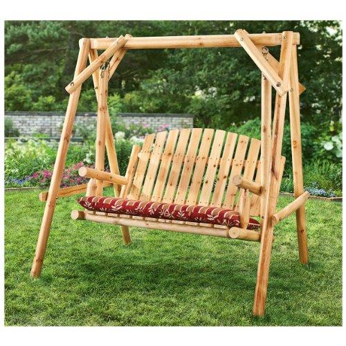Cheap CASTLECREEK 4′ Log Swing, 2 Person