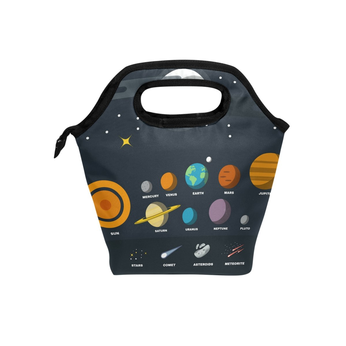 Lunch Tote Bag Solar System Handbag Lunchbox Food Container Gourmet Tote Cooler Warm Pouch For School Work Office Travel Outdoor By Saobao