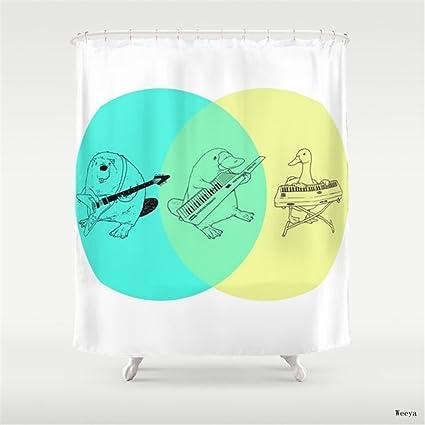 Amazon Weeya Keytar Platypus Venn Diagram Shower Curtain 60 X