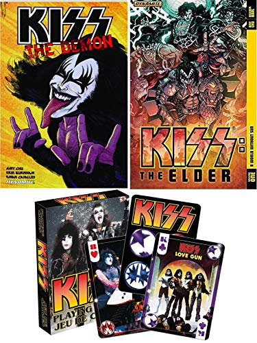 - Card Graphic Kiss Collection Band Action Comic Book Rock Band Army & Ready to Roll Playing Cards Deck with The Elder & The Demon Paperback Novels