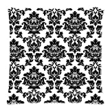 Damask Pillow Case - Awesome Black White Damask Floral 18x18 Zippered inch Two Sides Square Pillow Covers