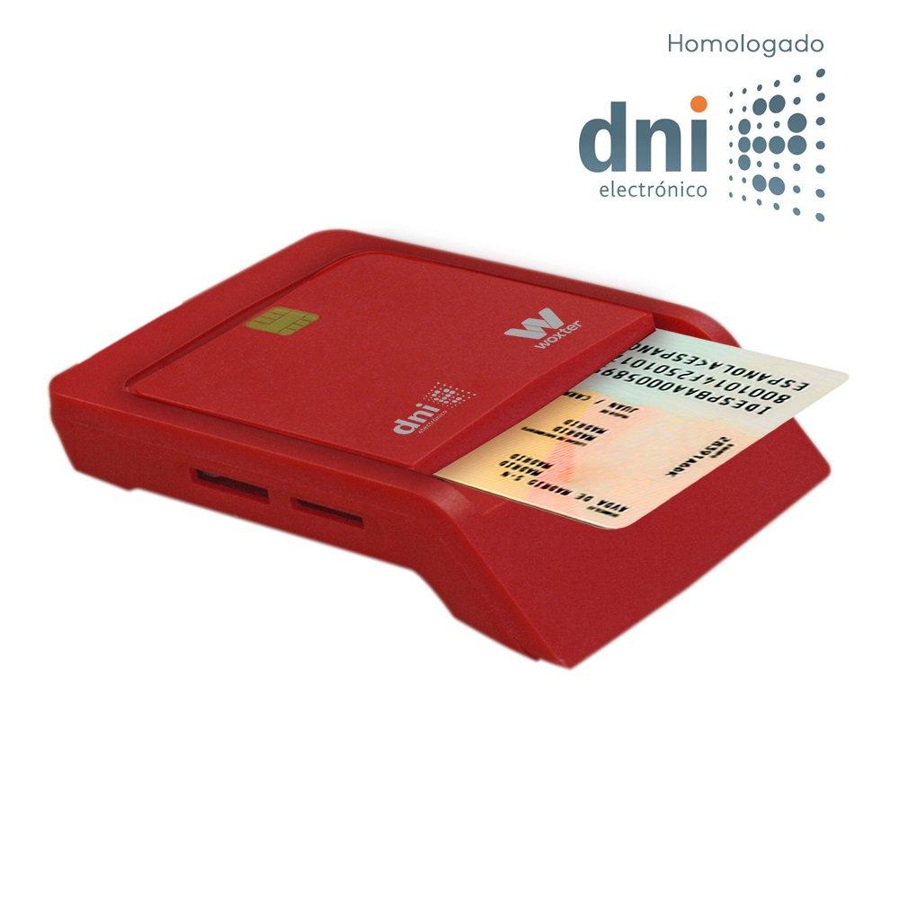 Woxter Lector Dni Combo - Lector DNI electró nico, compatible con las tarjetas Smart Cards o tarjetas inteligentes y con DNI 3.0, con 3 ranuras para tarjetas, color Blanco PE26-147