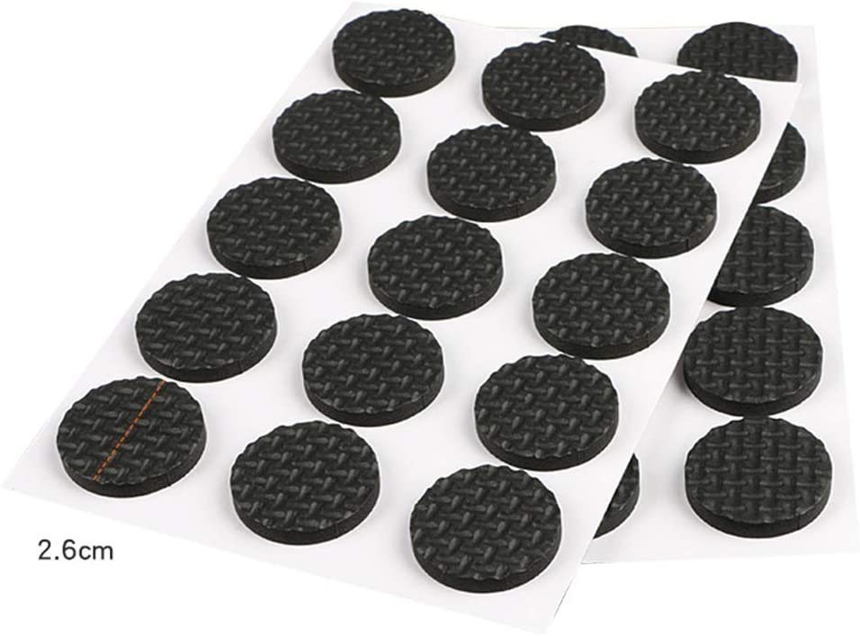 Non Skid Furniture Pads Non-Slip Furniture Grippers Rubber Stoppers for Furniture 12 Pcs 1.8 Round Self Stick Rubber Chair Leg Floor Protectors