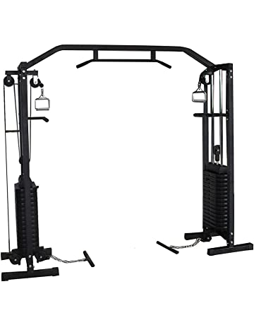 Tricep Rope Cable Gym Attachment Handle Bar Dip Station Resistance Exercise ZX
