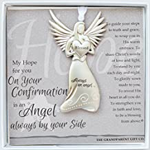 The Grandparent Gift Confirmation Keepsake Angel, Gray, Silver, 1 Pack