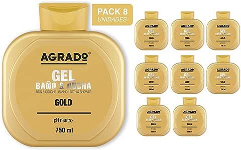 Gel Baño y Ducha Gold Agrado 750 ml - Pack de 8 unidades: Amazon ...