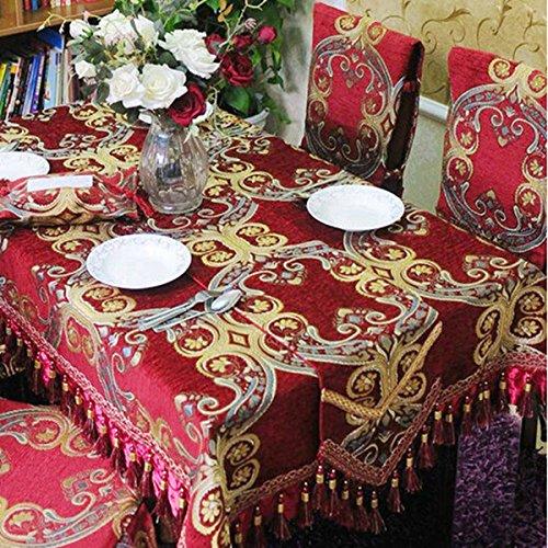 BlauLSS Wo Tia-Upscale rot Tischdecke Tischdecken Wedding Packages maßgeschneiderte Stuhlhussen Tischdecken Polsterung Bodenbeläge, 2227, Tischläufer 30 x 200 cm. Table Runner30x200cm