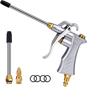 Professional Air Blow Gun With Copper Adjustable Air Flow Nozzle And 2 Steel Air Flow Extension Pneumatic Air Compressor Accessory Tool Dust Cleaning Air Blower Nozzle Gun Amazon Com