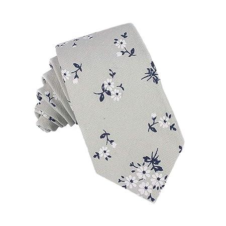 Happyplus1 Corbata para Hombre, Moda para Hombre algodón Estampado ...