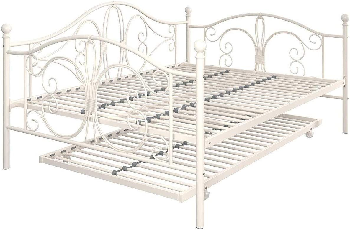 - Amazon.com: AyaMastro 77.5x56 Inches Metal Daybed Frame Trundle