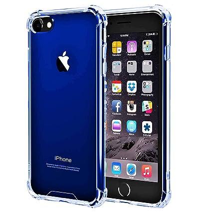 Amazon.com: Impacto Resistente cubierta transparente iPhone ...