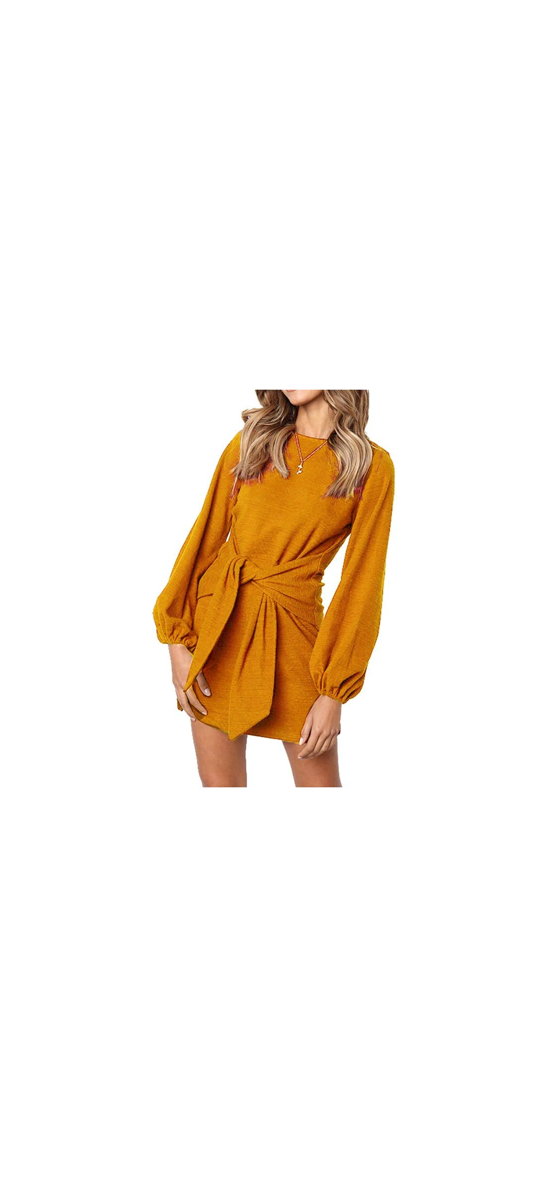 Women's Loose Casual Front Tie Long Sleeve Bandage Party