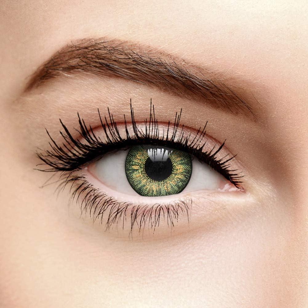 chromaview Lentillas Tri Tono de Color Verde Claro (30 Días) - Sin Graduación