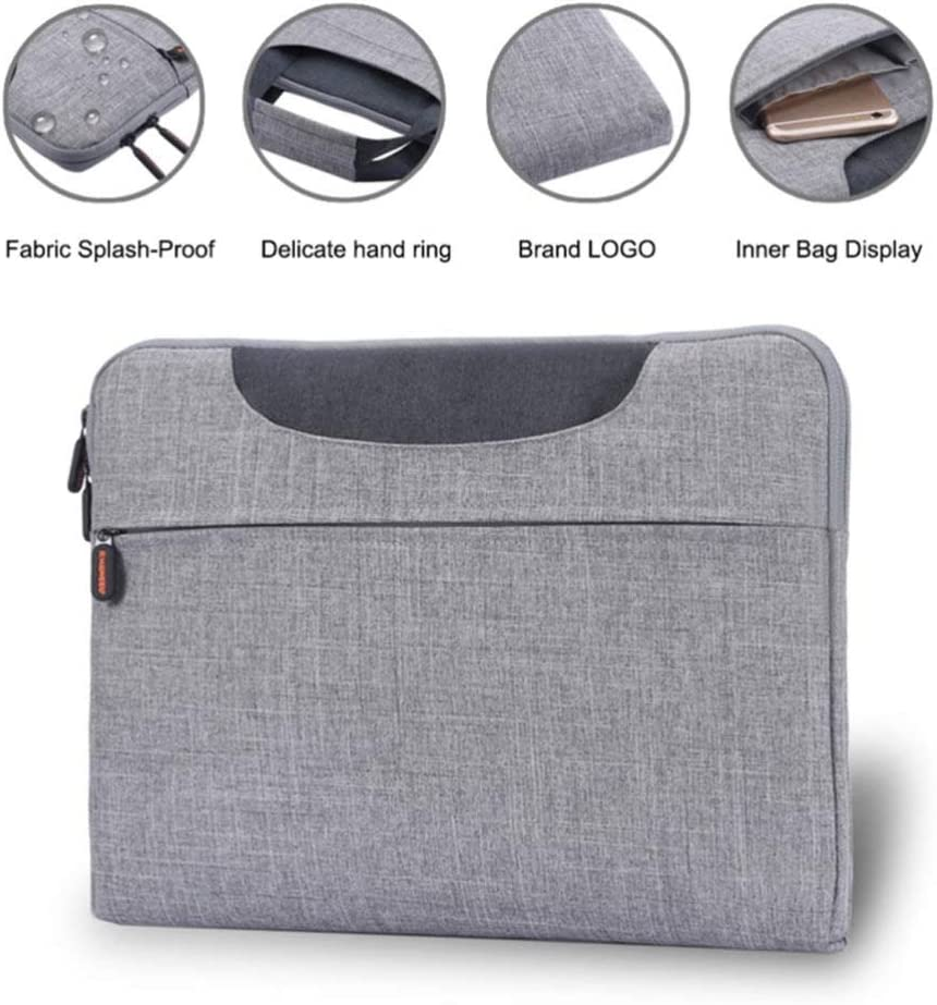 Cabilock Laptop Briefcase Oxford Cloth Portable Grey 15.6inch Notebook Sleeve Carrying Case Compatible with MacBook Dell Hp Acer Xiaomi