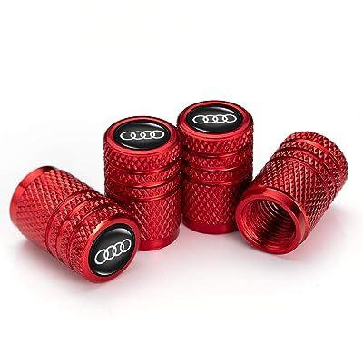 IJUSTBY 4 Pcs Metal Car Wheel Tire Valve Stem Caps for Audi S Line S3 S4 S5 S6 S7 S8 A1 A3 RS3 A4 A5 A6 A7 RS7 A8 Q3 Q5 Q7 R8 Logo Styling Decoration Accessories.: Automotive