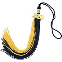FtyFty 2Pcs Graduation Honor Cords 68 Long Double and Single Black Polyester Twisted Strand with Tassels 36 Colors