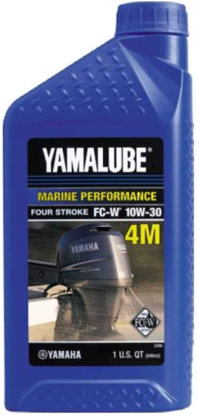 Yamaha Yamalube 4M Outboard FC-W 10W-30 Four Stroke Engine Oil One Quart