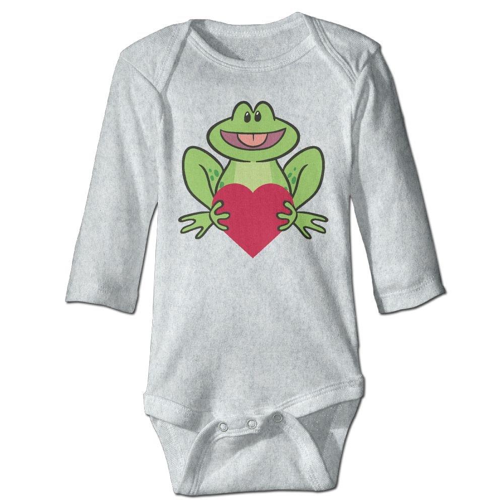 Midbeauty Frog Heart Love Newborn Cotton Jumpsuit Romper Bodysuit Onesies Infant Boy Girl Clothes