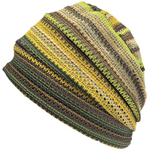 Crochet Free Hat (Casualbox Charm Crochet Beanie Hat Summer Mesh Tie Dye Fashion Skull Cap Unisex Cool Yellow)