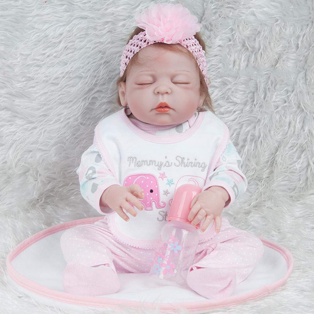 Hongge Reborn Bambola,Simulazione baby silicone reborn doll Skin like babyborn rebirth baby doll 55cm