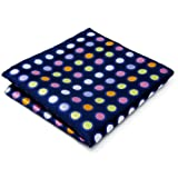 "shlax&wing Men's Hanky Polka Dot Navy 12.6"" 32cm Pocket Square"